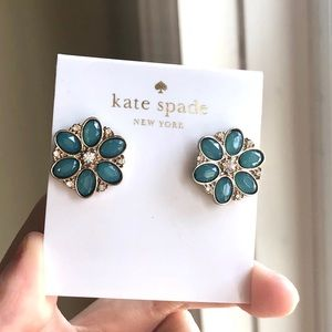 Kate Spade Turquoise Flower Stud Earrings